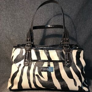 Handbags - Nine & Co Zebra Stripe Purse